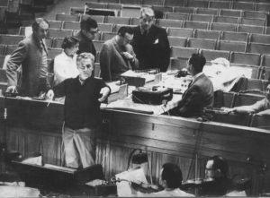 Gerhart Harrer mit CW Simon und H Harrer in der Berliner Philharmonie 1973